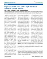 Plos Neglected Tropical Diseases : Niger... by Hotez, Peter, J.