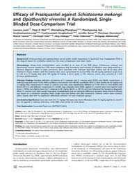Plos Neglected Tropical Diseases : Effic... by Sripa, Banchob