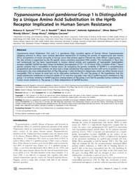 Plos Neglected Tropical Diseases : Trypa... by Masiga, Daniel, K.