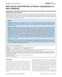 Plos Neglected Tropical Diseases : Risk ... by Haake, David A.