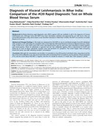 Plos Neglected Tropical Diseases : Diagn... by Debrabant, Alain