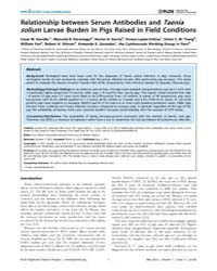 Plos Neglected Tropical Diseases : Relat... by Flisser, Ana