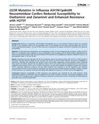 Plos One : I223R Mutation in Influenza A... by Digard, Paul