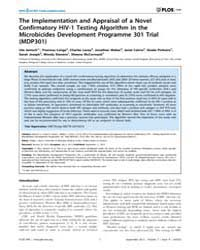 Plos One : the Implementation and Apprai... by Buch, Shilpa, J.