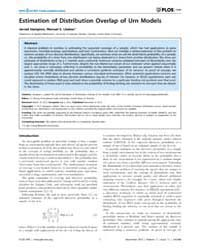 Plos One : Estimation of Distribution Ov... by Zhang, Yu