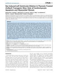Plos One : Rac-induced Left Ventricular ... by Peng, Tianqing