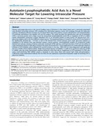 Plos One : Autotaxin-lysophosphatidic Ac... by Khan, Asad, U.