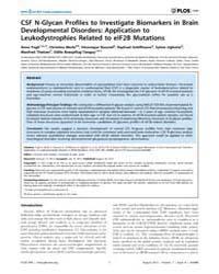 Plos One : Csf N-glycan Profiles to Inve... by Esteban, Francisco, José