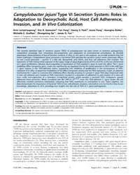 Plos One : Campylobacter Jejuni Type VI ... by Bereswill, Stefan