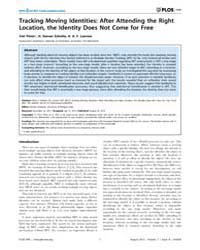 Plos One : Tracking Moving Identities ; ... by Avenanti, Alessio