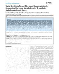 Plos One : Water Deficit Affected Flavon... by Wu, Keqiang