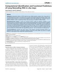 Plos One : Computational Identification ... by Qu, Liang-hu