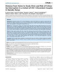 Plos One : Background ; Longitudinal Stu... Volume 7 by Eisele, Thomas