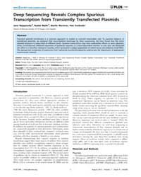 Plos One : Deep Sequencing Reveals Compl... by Preiss, Thomas