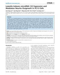 Plos One : Luteolin Induces Microrna-132... by Roman, Gregg