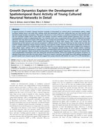 Plos One : Growth Dynamics Explain the D... by Wennekers, Thomas