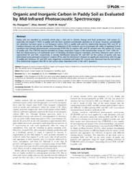 Plos One : Organic and Inorganic Carbon ... by Gasset, Maria