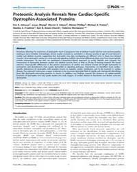 Plos One : Proteomic Analysis Reveals Ne... by Fraternali, Franca