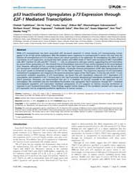 Plos One : P53 Inactivation Upregulates ... by Deb, Sumitra