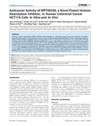 Plos One : Anticancer Activity of Mpt0E0... by Jung, Manfred