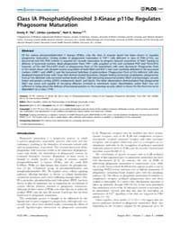 Plos One : Class Ia Phosphatidylinositol... by Neyrolles, Olivier