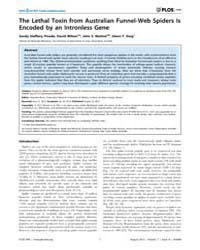 Plos One : the Lethal Toxin from Austral... by Bravo, Alejandra