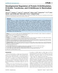 Plos One : Developmental Regulation of P... by Planel, Emmanuel