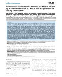 Plos One : Preservation of Metabolic Fle... by Blanc, Stephane