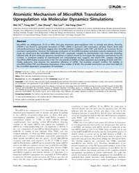 Plos One : Atomistic Mechanism of Micror... by Csermely, Peter
