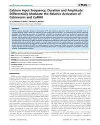 Plos One : Calcium Input Frequency, Dura... by Feng, Zhong-ping