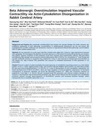 Plos One : Beta Adrenergic Overstimulati... by Scuteri, Angelo