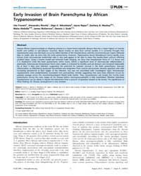 Plos One : Human African Trypanosomiasis... Volume 7 by Schallig, Henk, D. F. H.