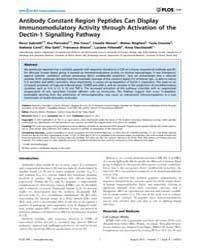 Plos One : Antibody Constant Region Pept... by Rodrigues, Mauricio, Martins
