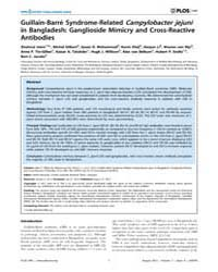 Plos One : Guillain-barré Syndrome-relat... by Bereswill, Stefan