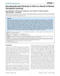 Plos One : Decoding Reveals Plasticity i... by Suzuki, Satoru