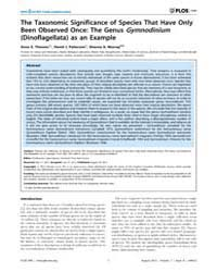 Plos One : the Taxonomic Significance of... by López-garcía, Purificación