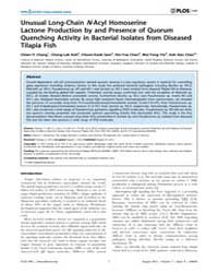 Plos One : Unusual Long-chain N-acyl Hom... by Kaufmann, Gunnar, F.