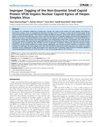 Plos One : Improper Tagging of the Non-e... by Banfield, Bruce W.
