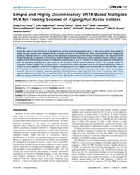 Plos One : Simple and Highly Discriminat... by Yun, Sung-hwan