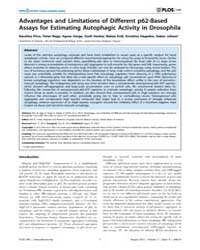 Plos One : Advantages and Limitations of... by Feany, Mel B.