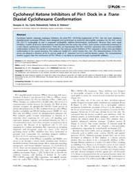 Plos One : Cyclohexyl Ketone Inhibitors ... by Barchi, Joseph J.