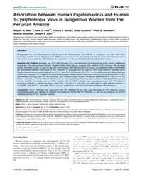 Plos One : Association Between Human Pap... by Lama, Javier R.