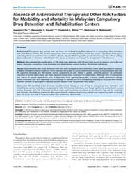 Plos One : Absence of Antiretroviral The... by Zhou, Dongsheng
