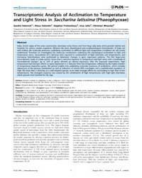 Plos One : Transcriptomic Analysis of Ac... by Bhattacharya, Debashish