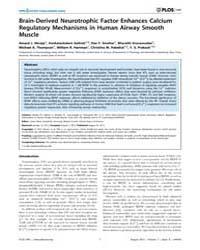 Plos One : Brain-derived Neurotrophic Fa... by West, James
