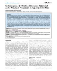 Plos One : Cyclooxygenase-2 Inhibition A... by Schmidt, Harald H. H. W.