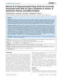 Plos One : Marine N-3 Polyunsaturated Fa... by Atkin, Stephen L.