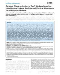 Plos One : Genomic Characterization of D... by Yin, Tongming