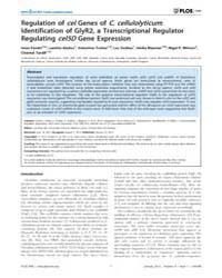 Plos One : Regulation of Cel Genes of C.... by Qiu, Jianming