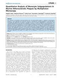 Plos One : Quantitative Analysis of Mono... by Georgakoudi, Irene